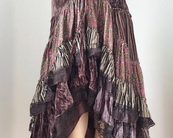 Hitch skirt steampunk gypsy boho hippy cosplay pirate wench woodland fairie larp size 12