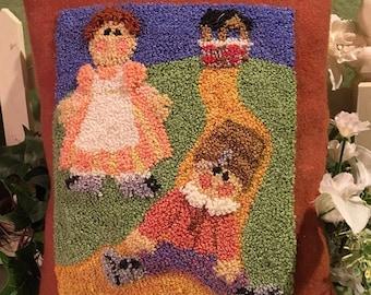 Primitive Punchneedle Embroidery Pattern Jack & Jill