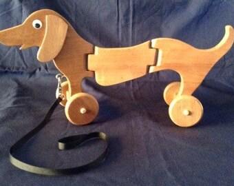 Dachshund Dog pull toy // Dachshund Art //