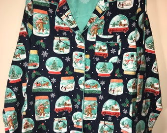 Tacky Ugly Christmas Sweater Shirt Lots of trinkets Size S
