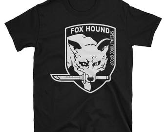 Metal Gear Online Revival MGO MGO2R Foxhound Emblem Animal Rank Unisex T-shirt