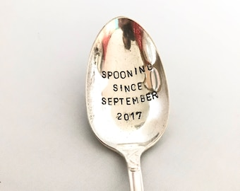 Personalised dessert spoon, customised spoon, stamped spoon, personalized cutlery, custom gift, plated spoon, christmas present, keepsake