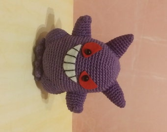 Pokemon Amigurumi Gengar made to order