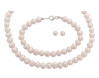 Sterling Silver Freshwater Pearl Jewellery Set