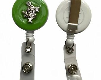 Badge reel for the Alice in Wonderland fan