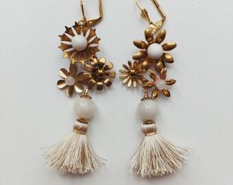 Boucles d'oreilles pompon Wildflower #1513