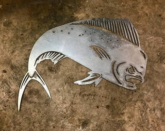 Mahi Mahi Dolphin Fish - Metal Wall Art