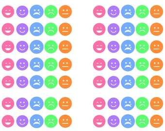Emoji Stickers: Printable & Perfect for All Planners (Digital Pdf File)