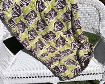 Adult Owl Fleece Blanket