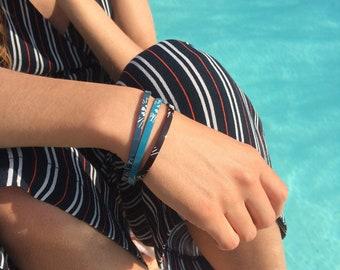 patent leather band bracelet