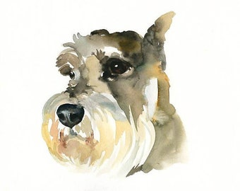 Custom pet portrait Original watercolor painting Dog portrait Custom pet painting Custom dog portrait  8X10inch