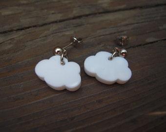 Cute cloud charms laser cut acrylic
