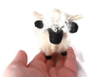 Custom Needle felted sheep, Valais Blacknosed Sheep soft sculpture