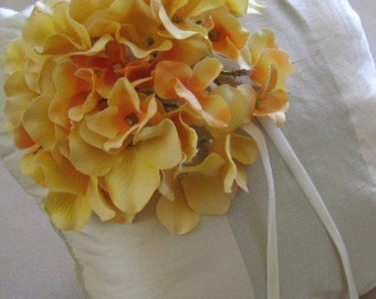Duchess Champagne stripe Ring Bearer Pillow