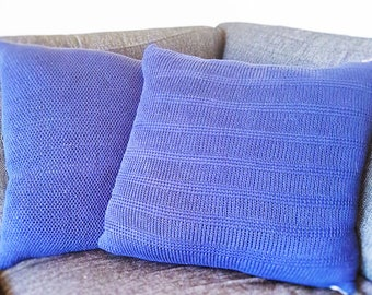 Tunisian Crochet Pillows - 2 digital download patterns (English and Danish)