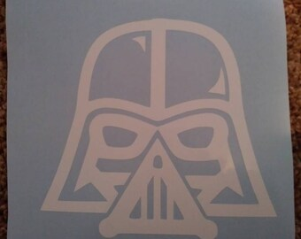 """5"""" white Darth Vader decal sticker for car or truck window on sale free shipping"""