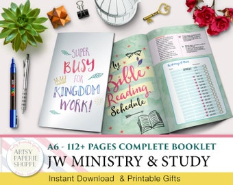 Complete JW Study Ministry Booklet - 112+ pages - Ready to Print