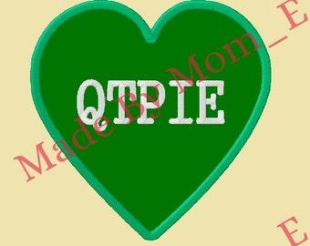 Conversation Heart Applique - QTPIE