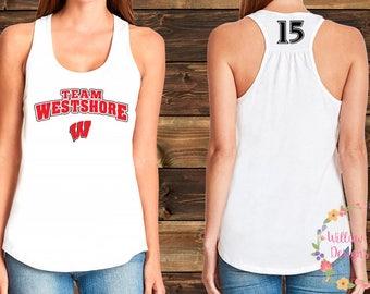 "Team Westshore Baseball Tank - Logo with ""W"""