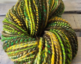 hand spun wool, jungle fever