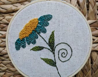 Botanical Flower Embroidery
