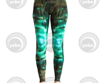 Green Fever Batik Leggings