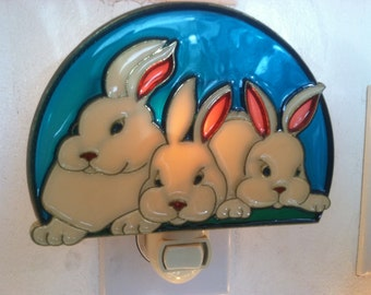 Bunny Rabbit Night Light  4 watt  on/off switch