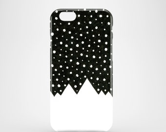 Snow Tops phone case, black and white iPhone X, iPhone 8, iPhone 7, 7 Plus, iPhone SE, iPhone 6S, iPhone 6, iPhone 5/5S, mountains case