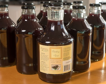 Organic Elderberry Syrup, Cold and Flu, Immunity Booster, Sickness, Aronia Berries, Health, Natural, Bacterial, Viral