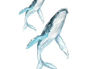 Whale Temporary Tattoos T103