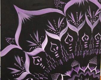 purple mandala 16x20 canvas