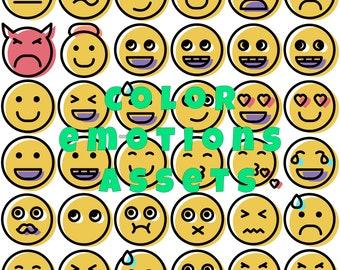 color emotions SVG PNG