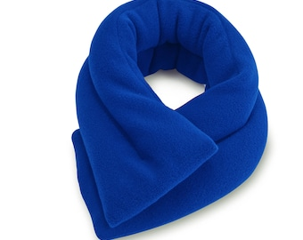 "Royal Blue Microwave Neck Heating Pad (5""x26""), Neck Shoulder Warm Wrap, Bean Bag, Moist Heat, Neck Pain Relief"