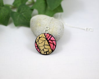 Sunset Necklace // Wood // Hand painted // Jewellery // Bohemian // Nature Girl // Surf Girl // Adventure // Beach // Gifts for her // Ooak