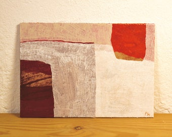 painted place 7 · original painting on cardboard · handmade and signed