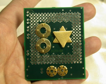 RECYCLED Circuit Board MAGNET Judaica Eco Friendly