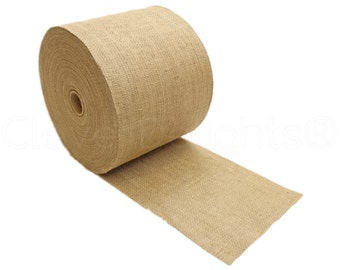 "100 Yards - 8"" Burlap Roll - Unfinished Edges - Eco-Friendly Natural Jute Burlap Fabric - Premium Rustic Burlap Table Runner - 8 Inch Burlap"