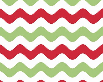 Half Yard Wave - Waves in Christmas Colors - Cotton Quilt Fabric - RBD Designers for Riley Blake Designs - C415-07 (W3287)
