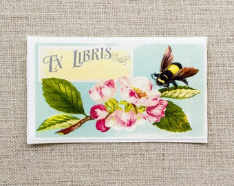 bumblebee bookplates - custom book plates - ex libris - personalized bookplate stickers - book labels - gift for book lovers - gift under 20