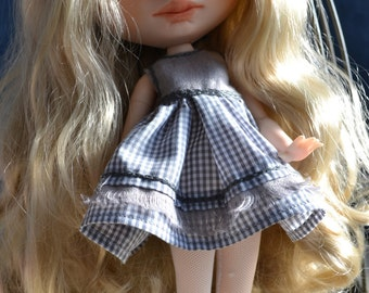 Reserved  Handmade cotton dress + jacket + cup  and boots for Blythe and Pullip outfit 3º payment of 4