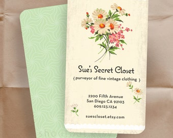 Custom Floral Business Cards Florist Shop/ 500 Shop Cards