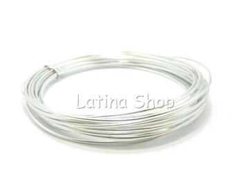 10 m - 1/1.5/2mm Silver Aluminum wire