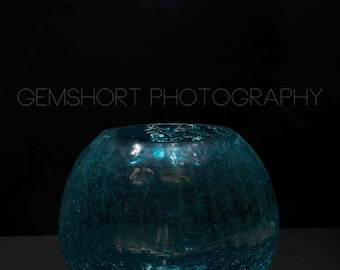 Turquoise Glass Vase - Digital Download - Photography by GemShort Photography