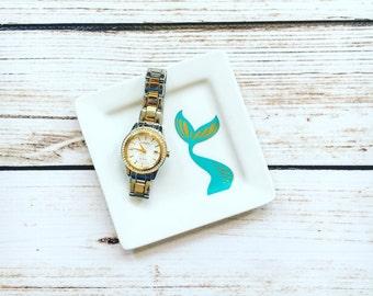 Mermaid Tail Ring dish // Personalized Ring Dish // Wedding Gift // Engagement Gift // Personalized Gift