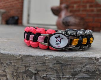 Army Soldier Wife Paracord Bracelet - FREE SHIPPING