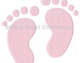 Baby Feet / Footprints Machine Embroidery Design