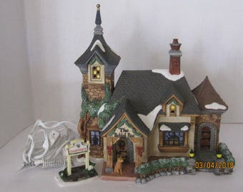 Collectable Christmas Village Santa workshop Veterinary House