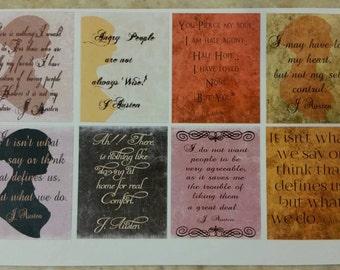 Jane Austen Quotes Full Box Half Sheet