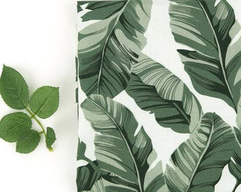 Dark Green Leaves Cotton Fabric - By the Yard 101162