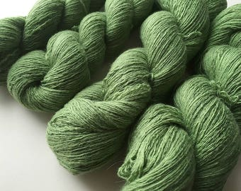 Reclaimed Lace Yarn - wool/rayon/angora/cashmere - Apple Green